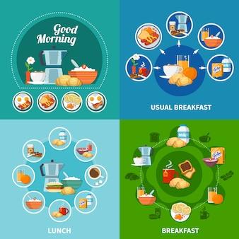 Набор иконок для завтрака