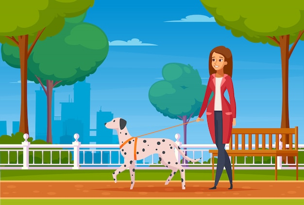 Люди с домашними животными мультфильм фон