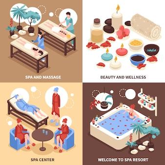 Спа-центр иллюстрации концепция дизайна