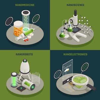 Нанотехнология изометрические концепция