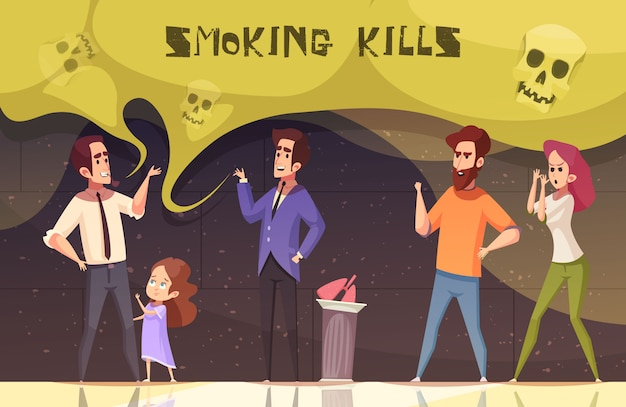 Курение убивает векторная иллюстрация