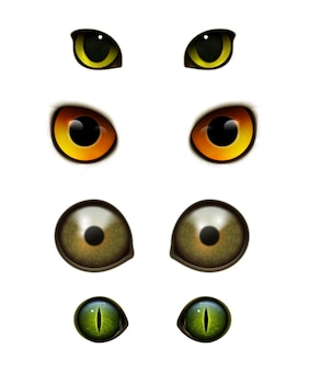 Монстр животные кошки реалистичные глаза