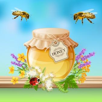 Реалистичные насекомые пчелы
