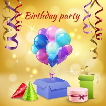 Аксессуары для вечеринки по случаю дня рождения реалистичные