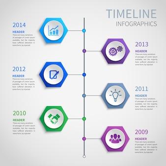 Инфографика временной шкалы