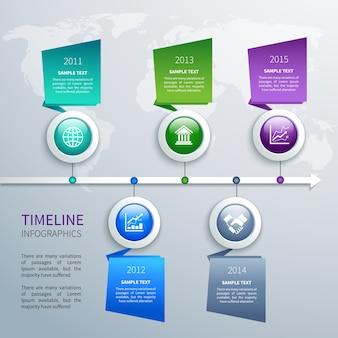 Шаблон инфографики временной шкалы