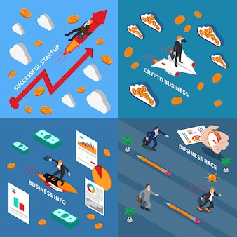 Ускорьте бизнес-концепцию иллюстрации