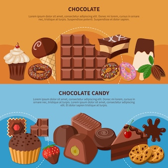 チョコレートフラットバナー