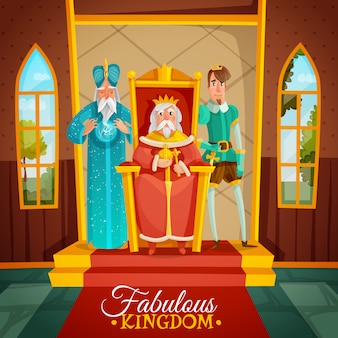 Сказочное королевство иллюстрации шаржа