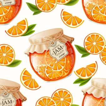 オレンジジャムシームレスパターン
