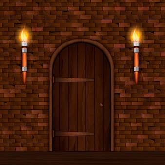ビンテージの入り口のドアの構成