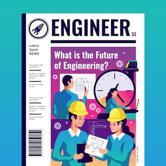 Обложка журнала инженер