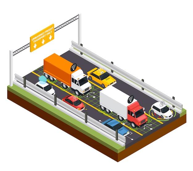 無人輸送のための駐車場