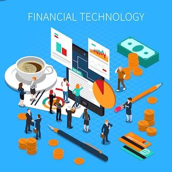 Финансовая технология изометрическая композиция