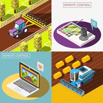 Набор композиций сельскохозяйственных роботов