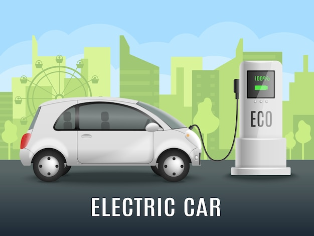 Реалистичная зарядка электромобиля