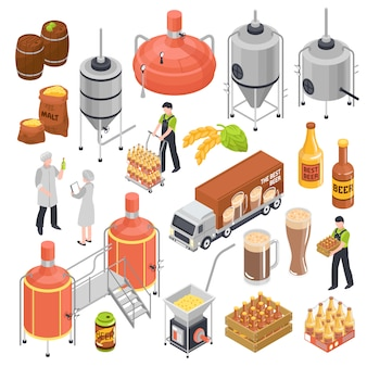 Пивоварня изометрические набор