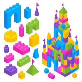 Игрушечный конструктор изометрические блоки