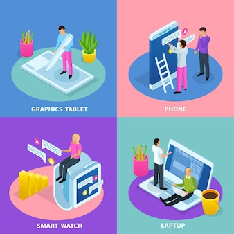 Иллюстрация концепции интерфейса пользователя