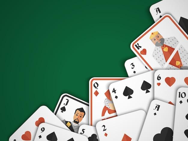 カジノポーカーハザードリスクゲームカードの背景ベクトル図