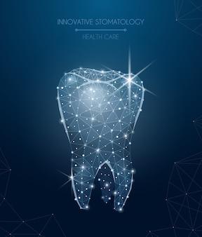 医療と治療のシンボルの現実的なイラストと革新的な口腔病学組成