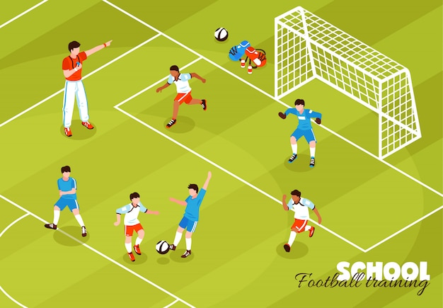 サッカートレーニング子供の背景