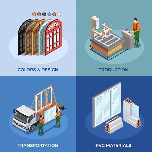 塩ビ窓の生産と輸送