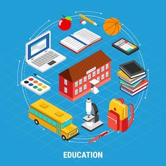 Изометрические набор элементов образования