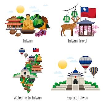 Добро пожаловать в коллекцию сцен тайваня