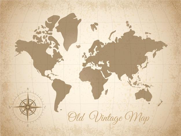 古い色の地図
