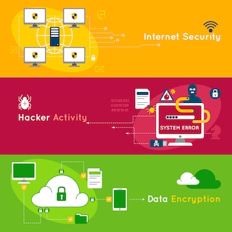 データ保護フラットバナーセット