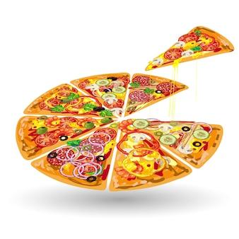 ピザの色構成