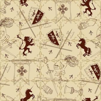 騎士のシームレスパターン