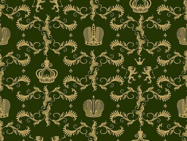 Королевская корона бесшовные модели