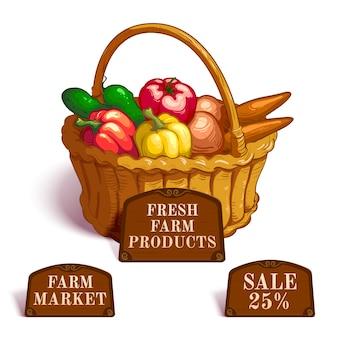 新鮮な農産物の構成