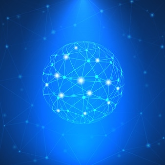 光るネットワークサイン
