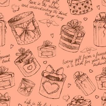 Бесшовная подарочная коробка подарка