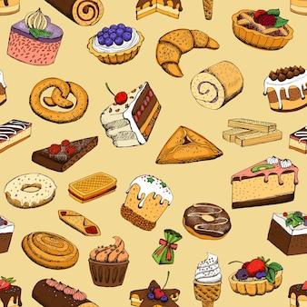 Бесшовные сладкие пирожные