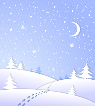 雪の降る冬の背景