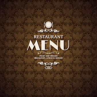 レストランカフェメニューカバーテンプレート