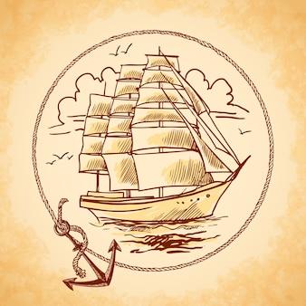背の高い船の紋章