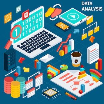 データ解析アイソメトリック