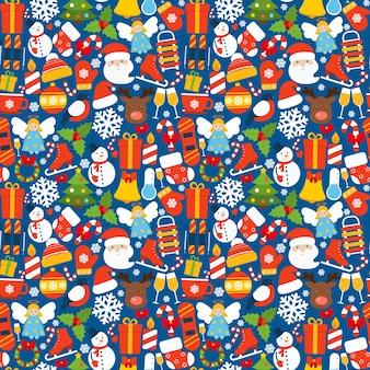 冬のシームレスなパターン