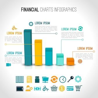 Финансовые диаграммы инфографические