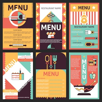 レストランのメニューデザイン