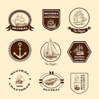 Эскиз морских эмблем