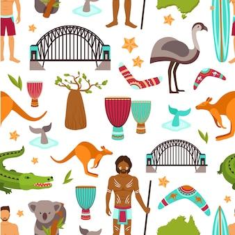 オーストラリアのシームレスなパターン