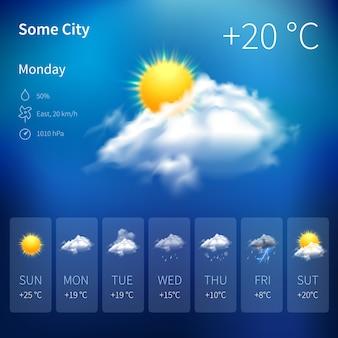 Реалистичный виджет погоды