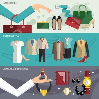 Набор баннеров для одежды