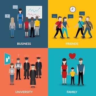 人々の社会的行動パターン